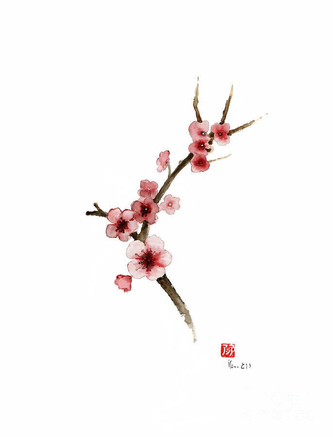 686x900 Spring Gift Flowers Pink Sakura Purple Brown Bloom From Cherry