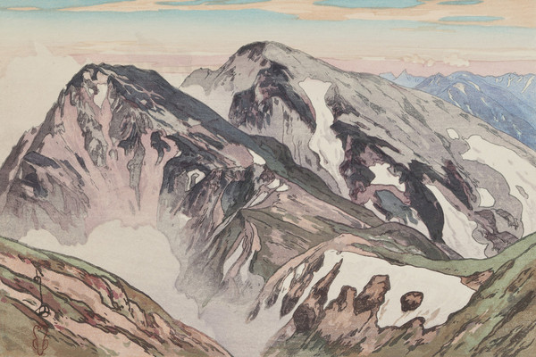 600x400 Hiroshi Yoshida Hakuba Mountain (Hakuba San), From The Series