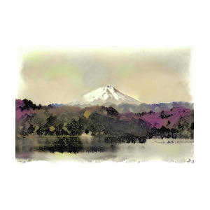 300x300 Japanese Watercolor Painting Mt. Fuji Modern Interior Art Digital