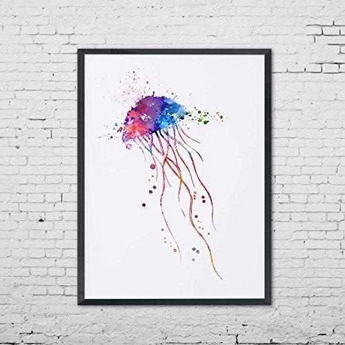 500x500 Jellyfish Giclee Sea Animal Art Print Marine Life