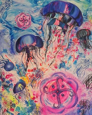 375x469 Jellyfish Painting By Jo Kukic Saatchi Art