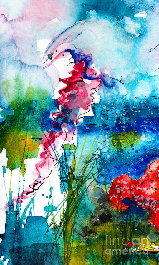 540x900 Jellyfish Watercolor Painting By Ginette Callaway