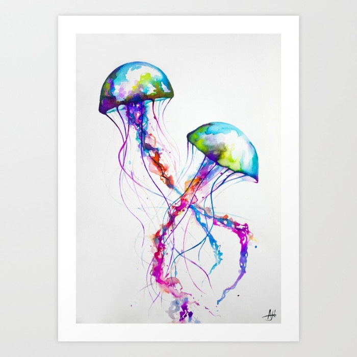 700x700 Narasumas Jellyfish Painting De La Pura Vida