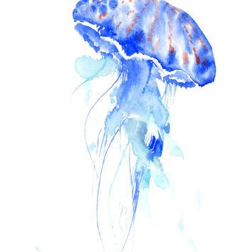 354x354 Shop Jellyfish Watercolor Paintings On Wanelo