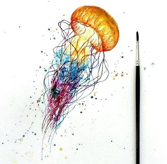 540x532 Watercolor Jellyfish 1 Watercolor Jellyfish Clipart Kidsuniverse