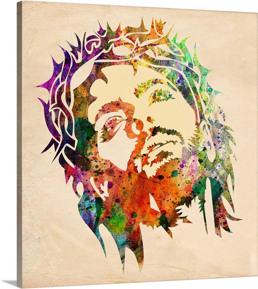 891x1000 Jesus Watercolor Wall Art, Canvas Prints, Framed Prints, Wall