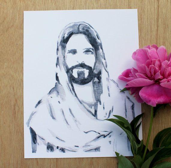 570x559 Printable Watercolor Christ Portrait Christ Portrait Christ