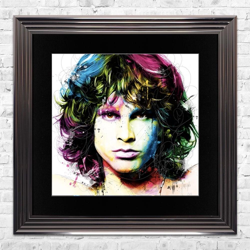 1000x1000 Jim Morrison Limited Edition Framed Liquid Artwork Signed With