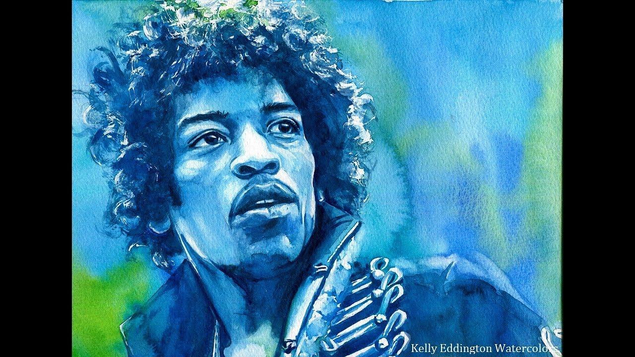 1280x720 Jimi Hendrix Speed Painting