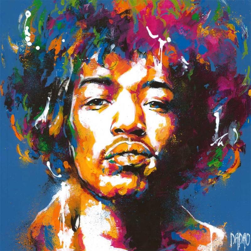 800x800 Unique Artwork Jimi Hendrix 3 From The Artist Dadao, Pop Art Style