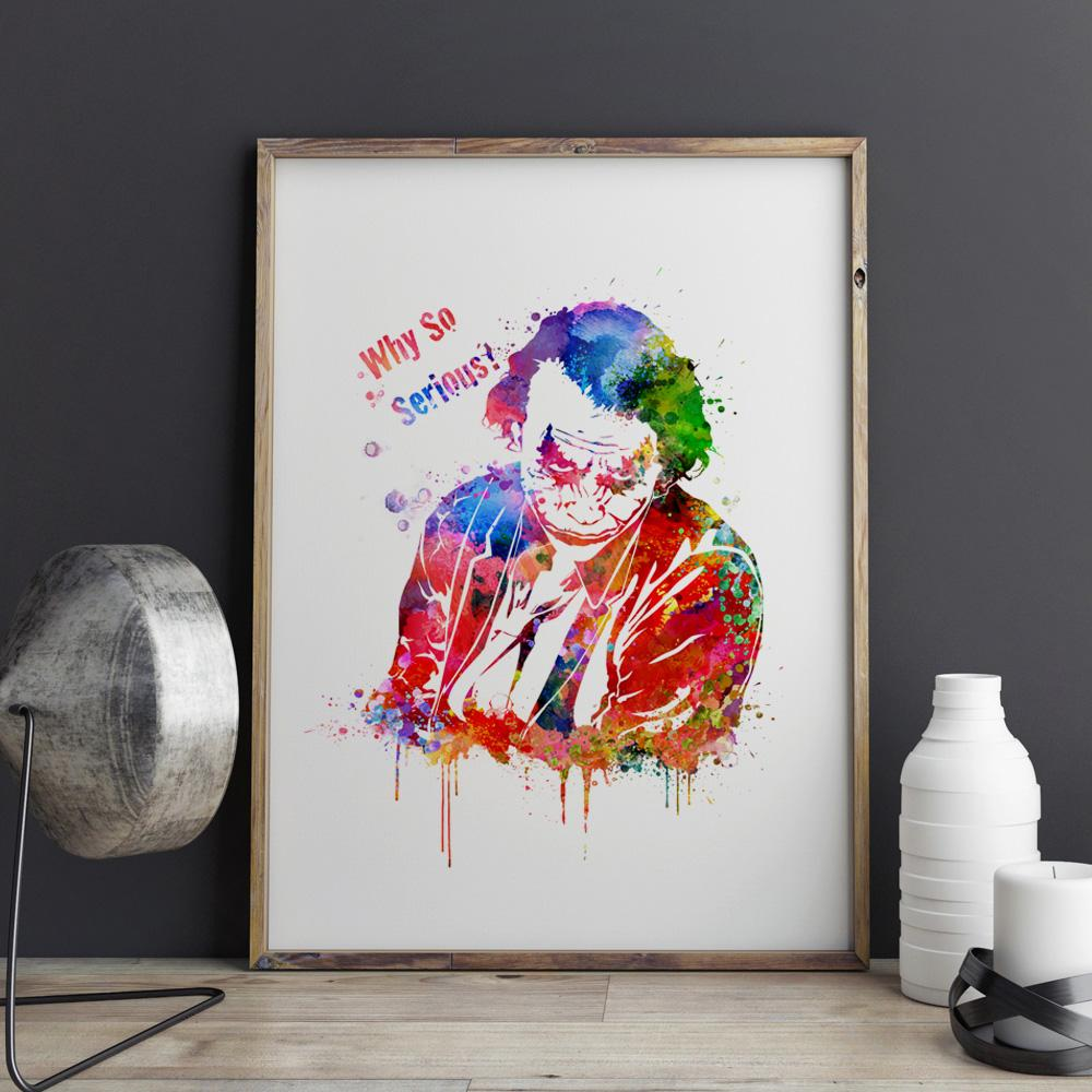1000x1000 Joker Watercolor Painting (Limited Edition) Kapow Style