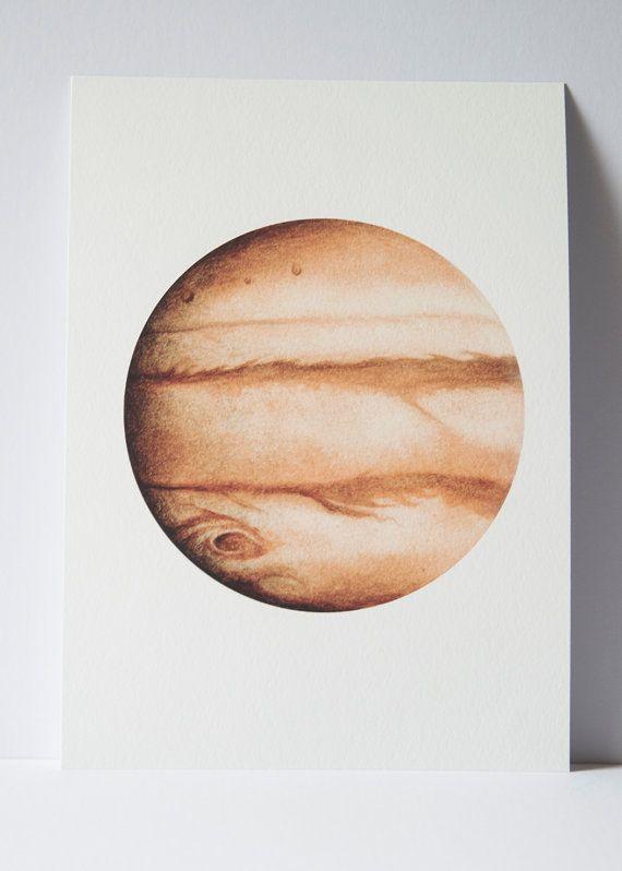 570x798 Watercolour Jupiter Print, Planet Art, Planet Watercolor, Planet