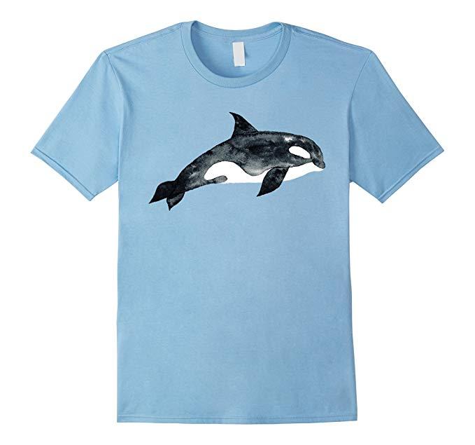 679x635 Cute Unique Watercolor Art Killer Whale T Shirt