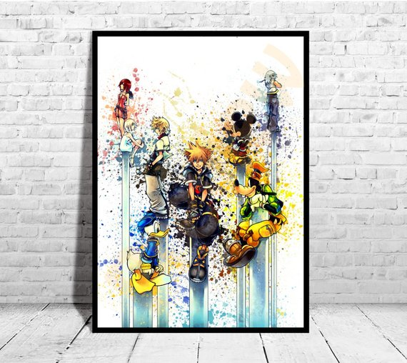 570x508 Kingdom Hearts Inspired Poster Size Up To 33x47 Etsy