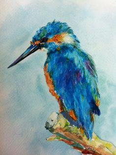 Kingfisher Watercolor