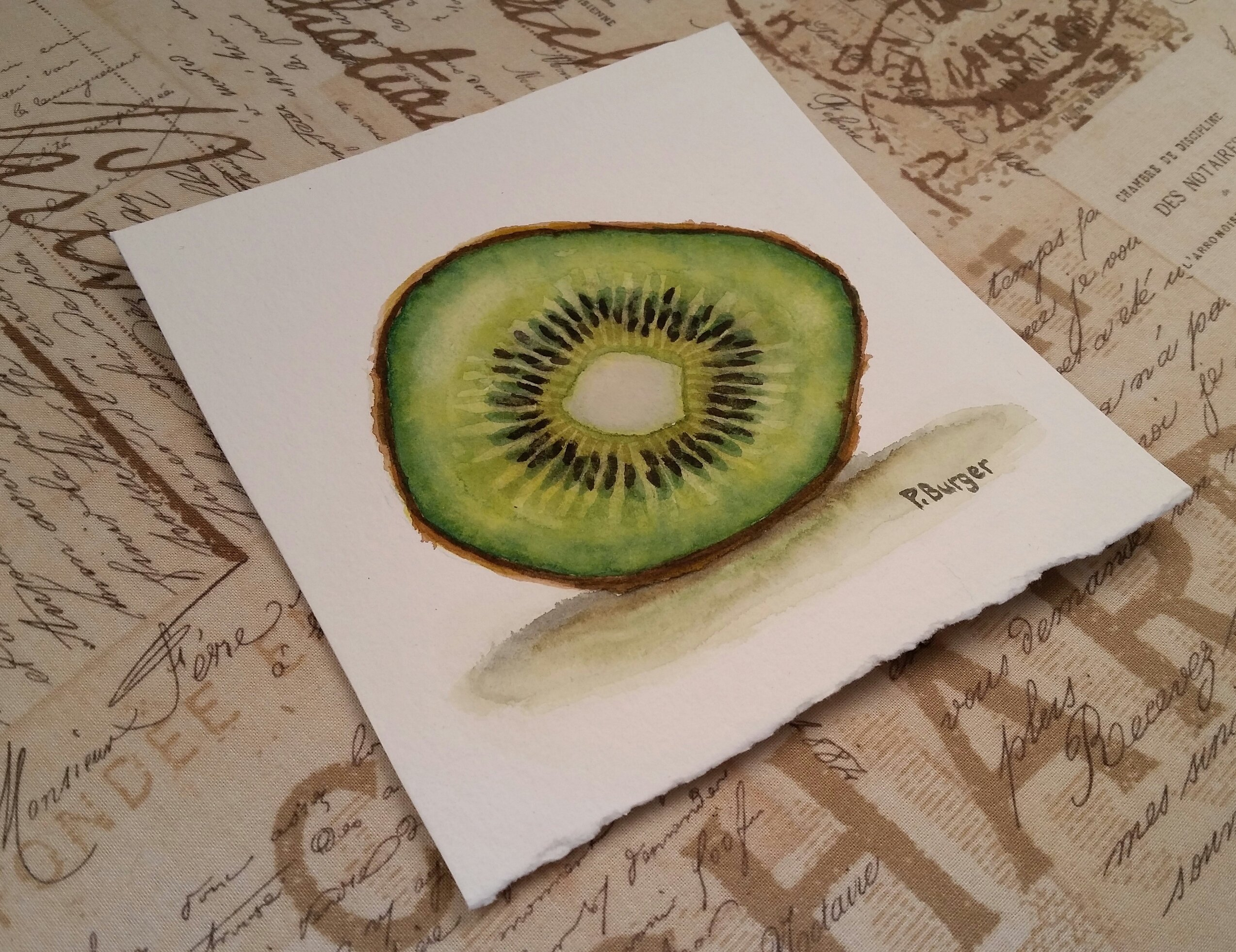 2548x1963 Kiwi Watercolor Still Life Painting Tropical Food Fruit Art Etsy