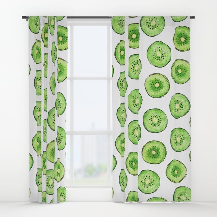 700x700 Kiwi Watercolor Window Curtains By Lenamirisola Society6