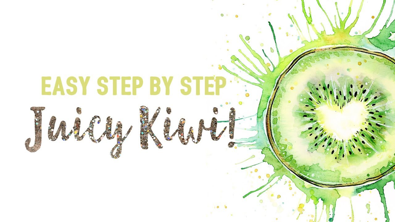 1280x720 Easy Watercolor Amp Ink Kiwi Fruit Painting Tutorial Step By Step