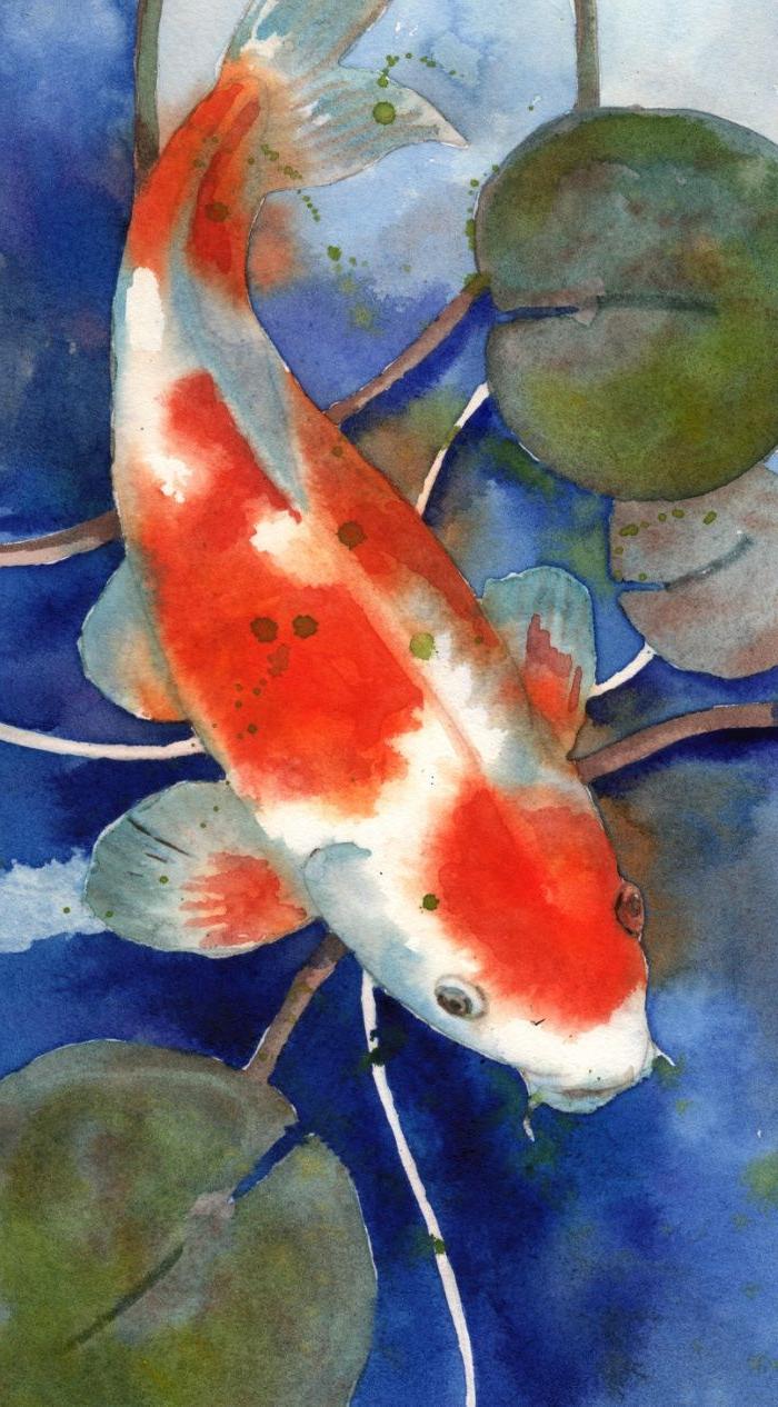 700x1266 Koi Fish Watercolor Painting Koi Art, Koi Painting, Watercolor Koi