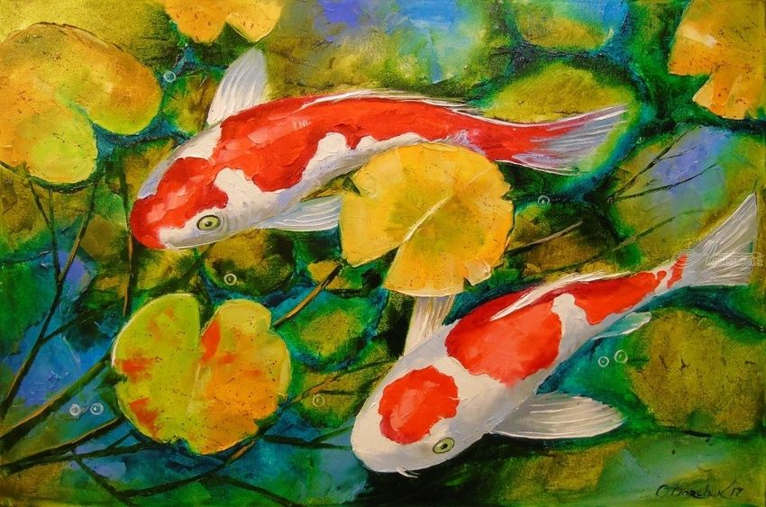 850x563 Koi Fish Paintings By Olha Darchuk