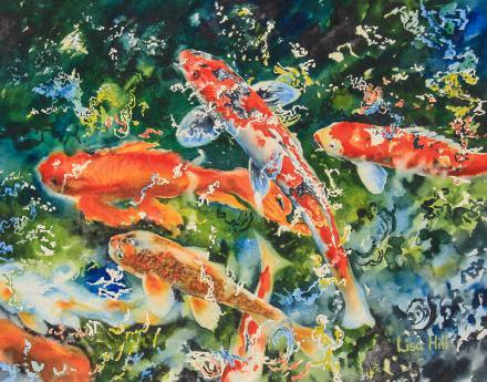 440x345 Koi In Watercolor