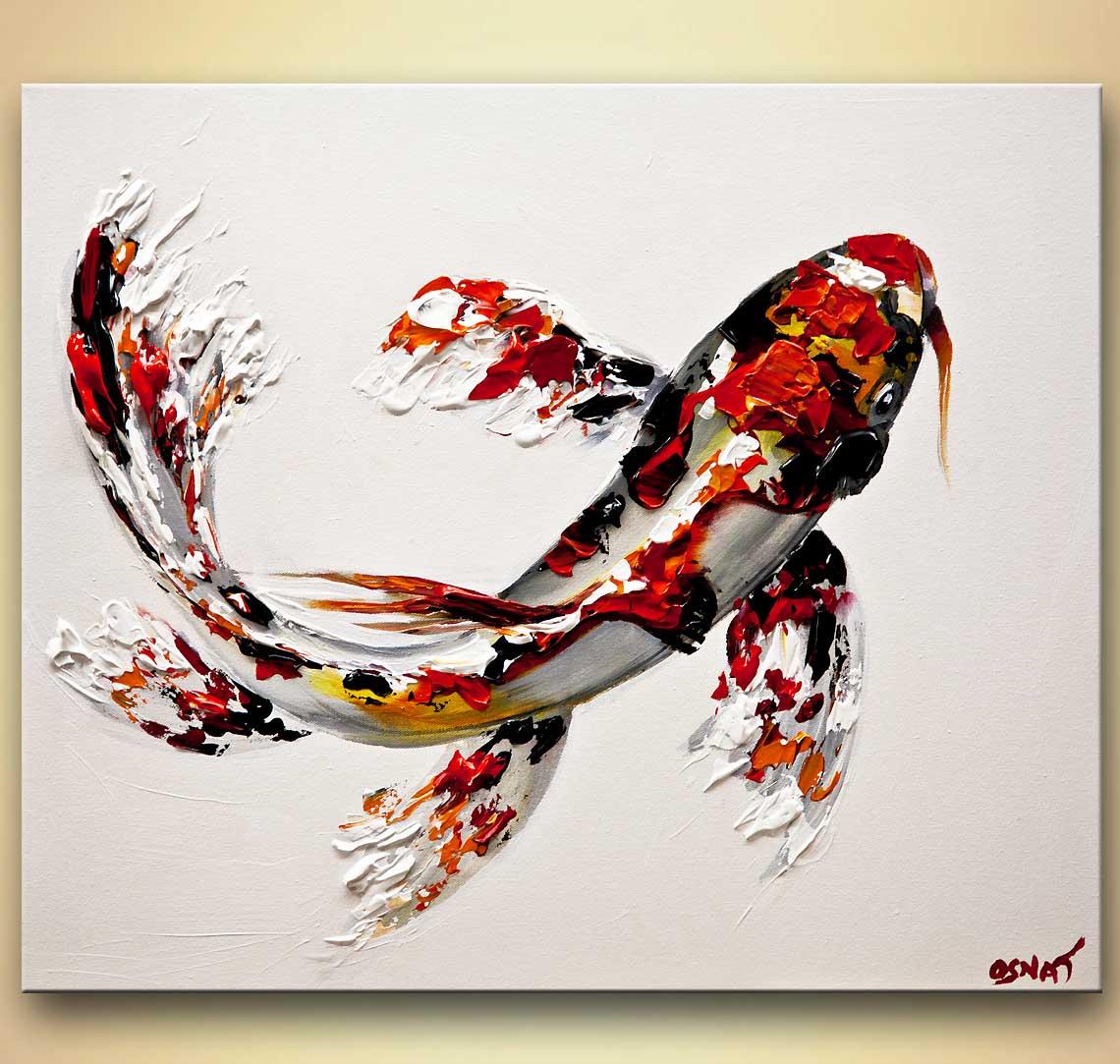 1140x1083 Buy Koi Fish Painting Textured