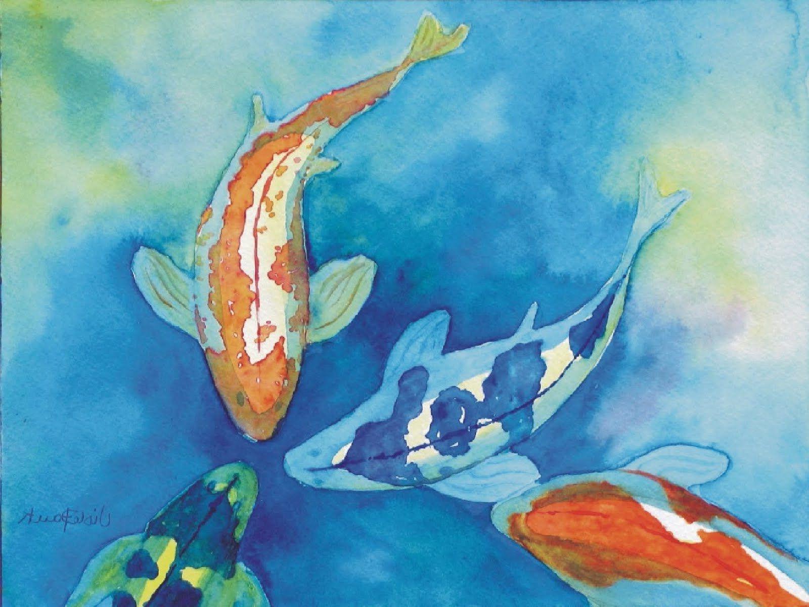 1600x1200 Painting Of Koi Fish Watercolor Paintings Of Fish Koi Fish