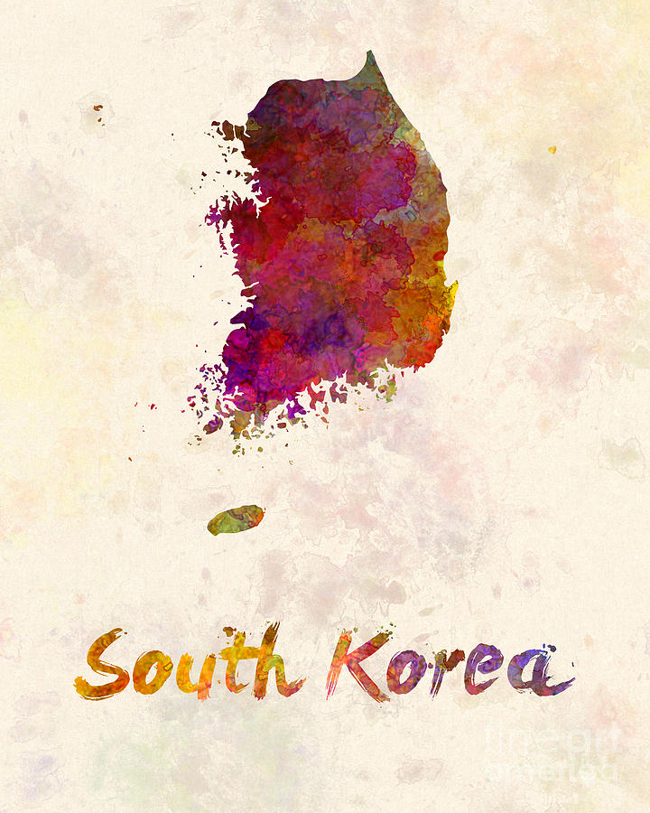 720x900 South Korea In Watercolor Painting By Pablo Romero