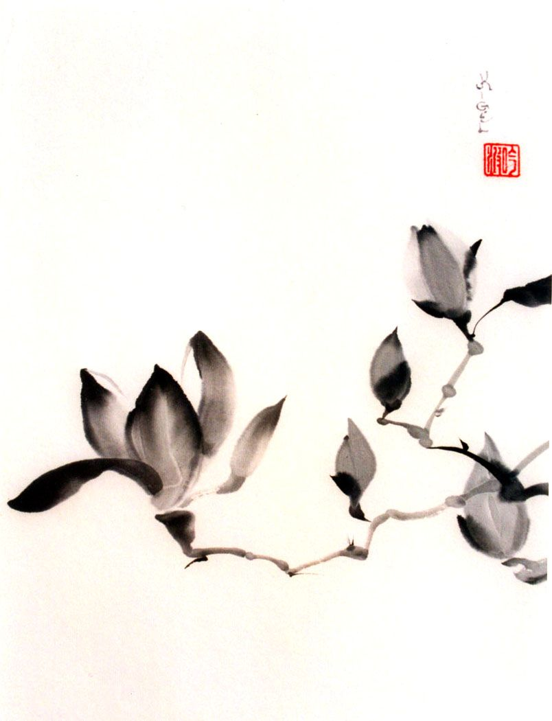 804x1050 Asian Ink Art Korean Watercolor Art Ink Art