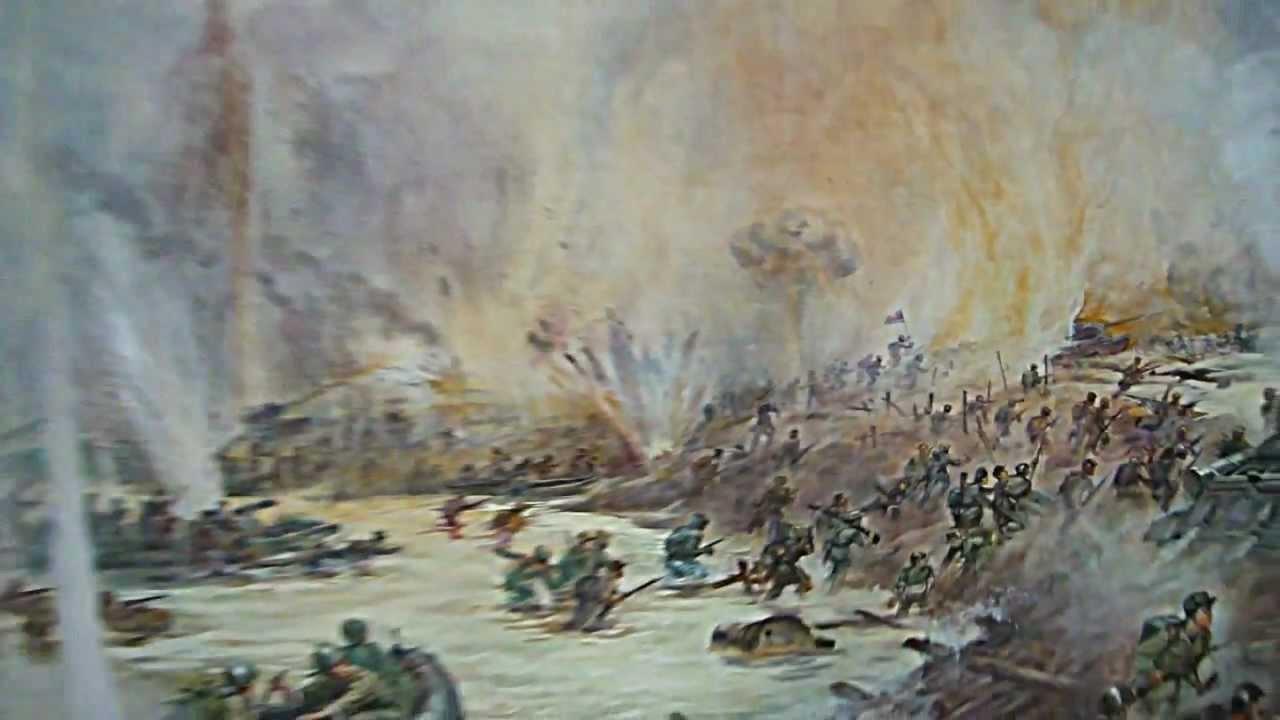 1280x720 Details Of Painting Of Korean War Battle Scene In North Korean War