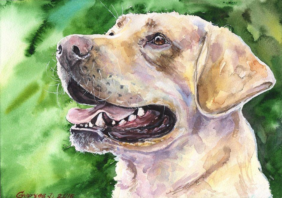 942x663 Labrador Watercolor Print Of The Original Watercolor Painting