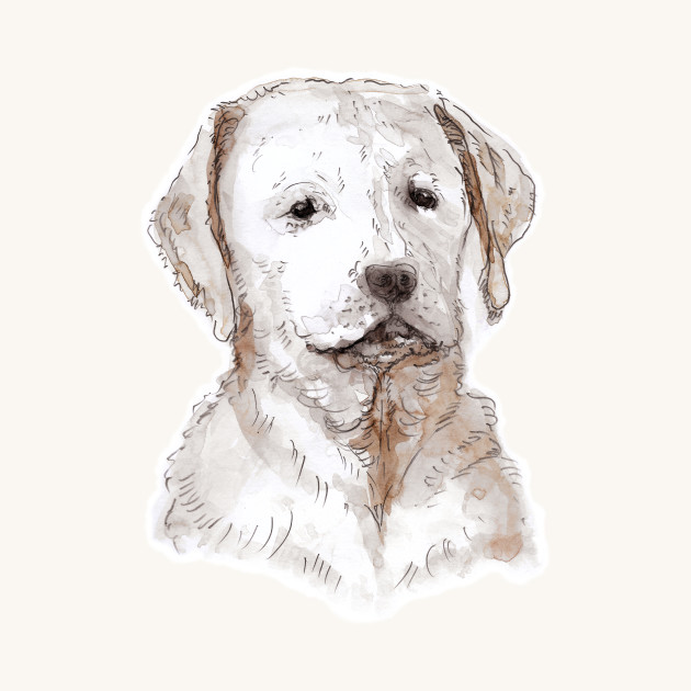 630x630 Labrador Puppy Watercolor Painting