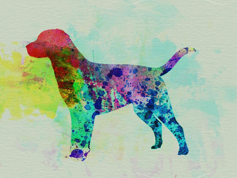 900x677 Labrador Retriever Watercolor Painting By Naxart Studio