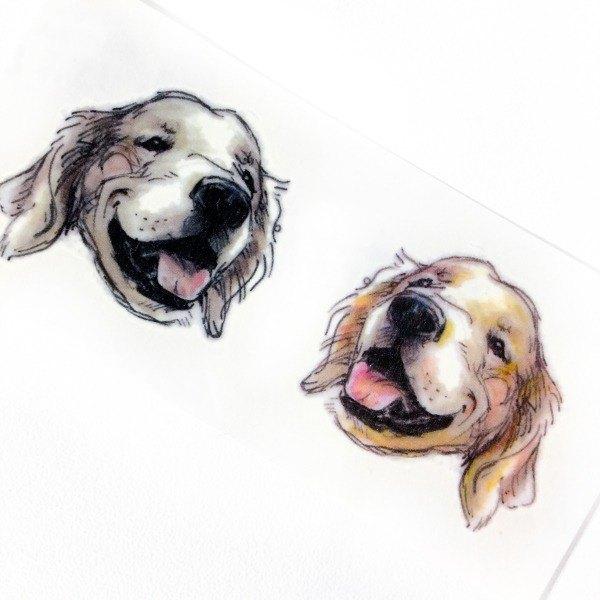 600x600 Pet Labrador Dog Temporary Tattoo Sticker Golden Retriever Puppy