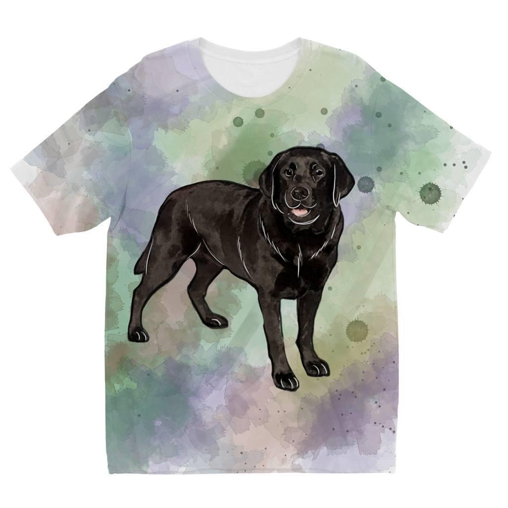1024x1024 Watercolor Black Labrador Designs By Amitie Kids Sublimation