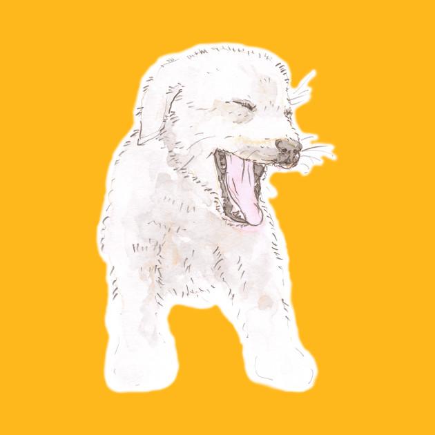 630x630 Yawning Labrador Puppy Watercolor