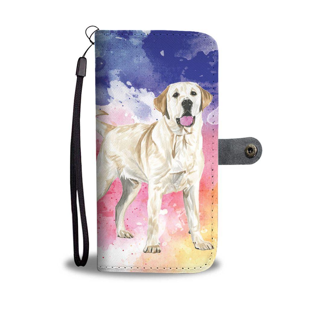 1024x1024 Yellow Labrador Watercolor Design No.1 Wallet Phone Case