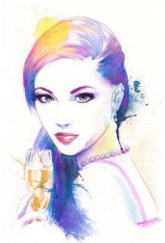Lady Watercolor
