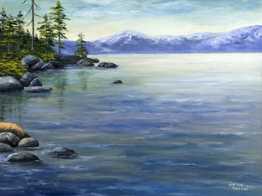 900x674 East Shore Lake Tahoe Painting By Darice Machel Mcguire