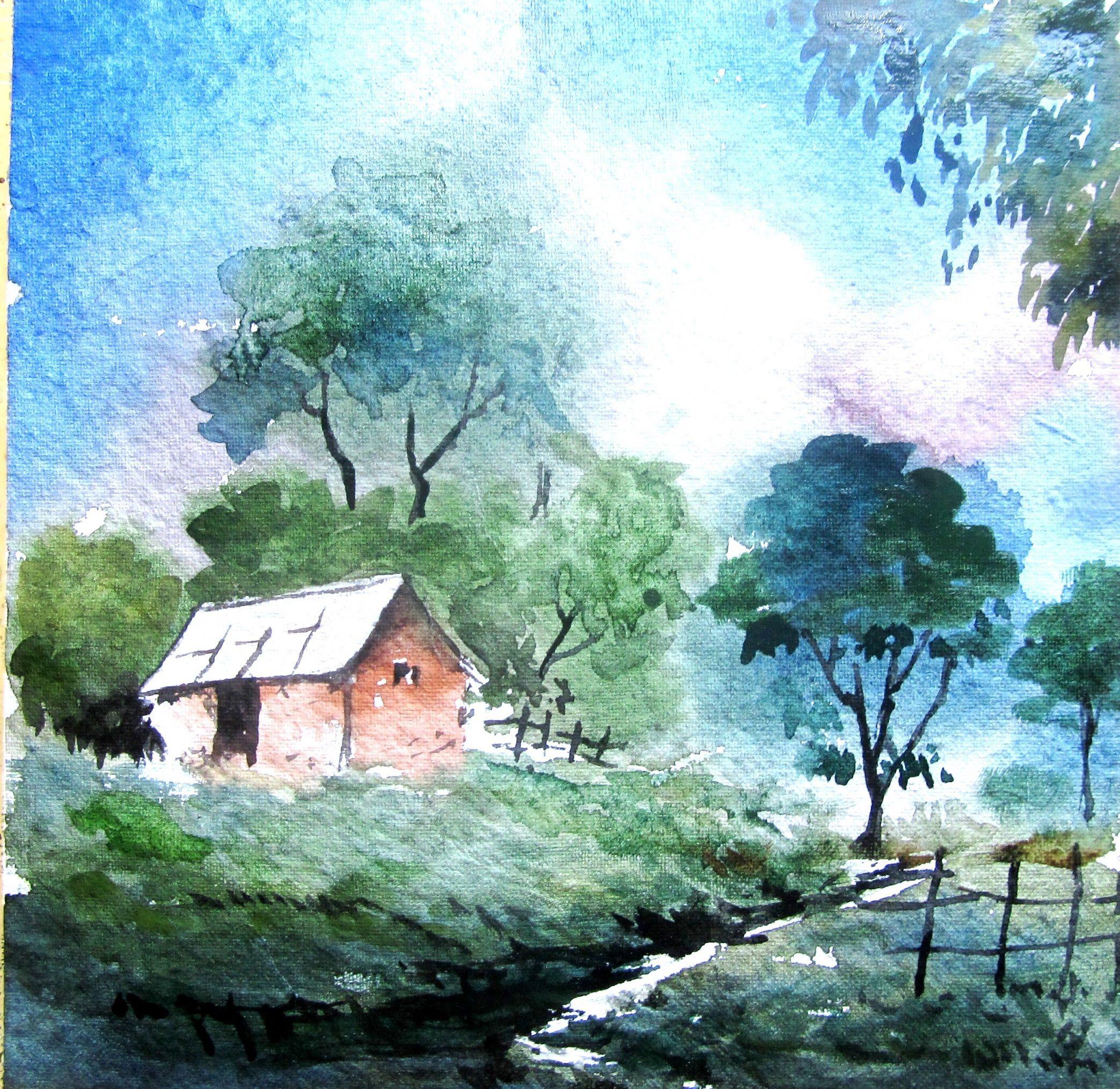 2087x2029 Gallery Simple Watercolor Landscape Paintings,