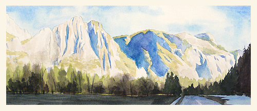 500x217 Paint Draw Paint, Learn To Draw Watercolor Basics Yosemite