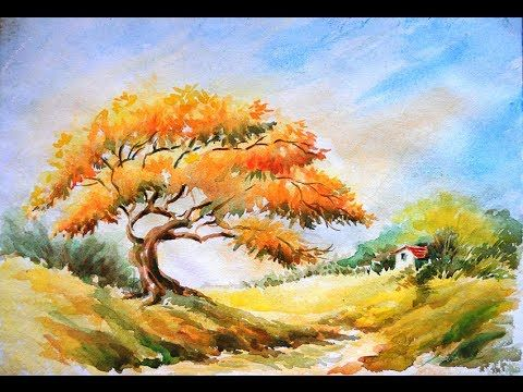 480x360 Photos Landscape Drawing In Watercolor,
