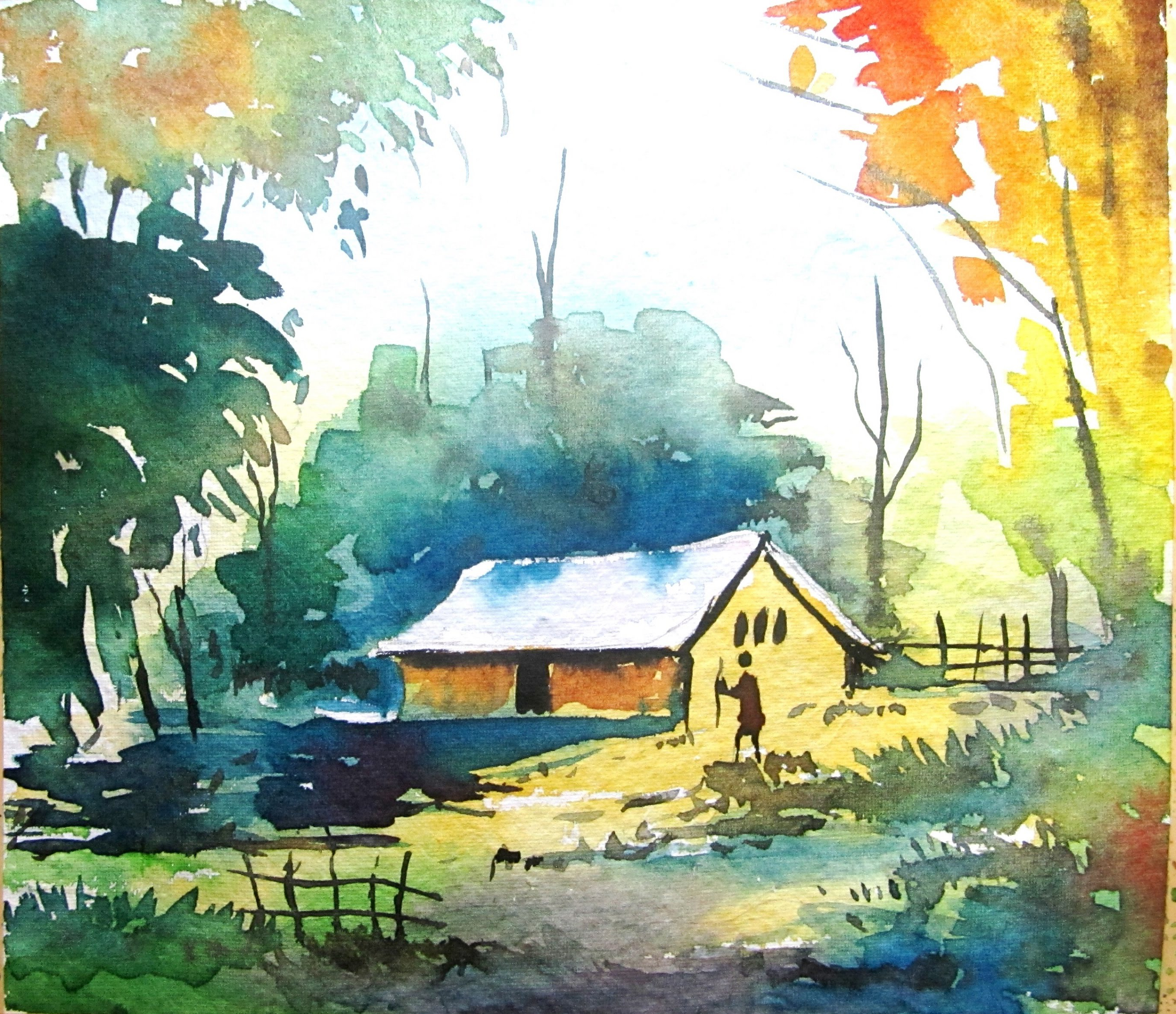 2730x2355 Simple Water Color Paintings Simple Watercolor Landscape Painting