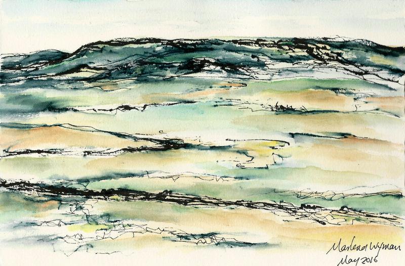 800x526 Watercolour Paintings The Prairie Line