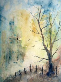 236x318 Drawn Landscape Watercolour