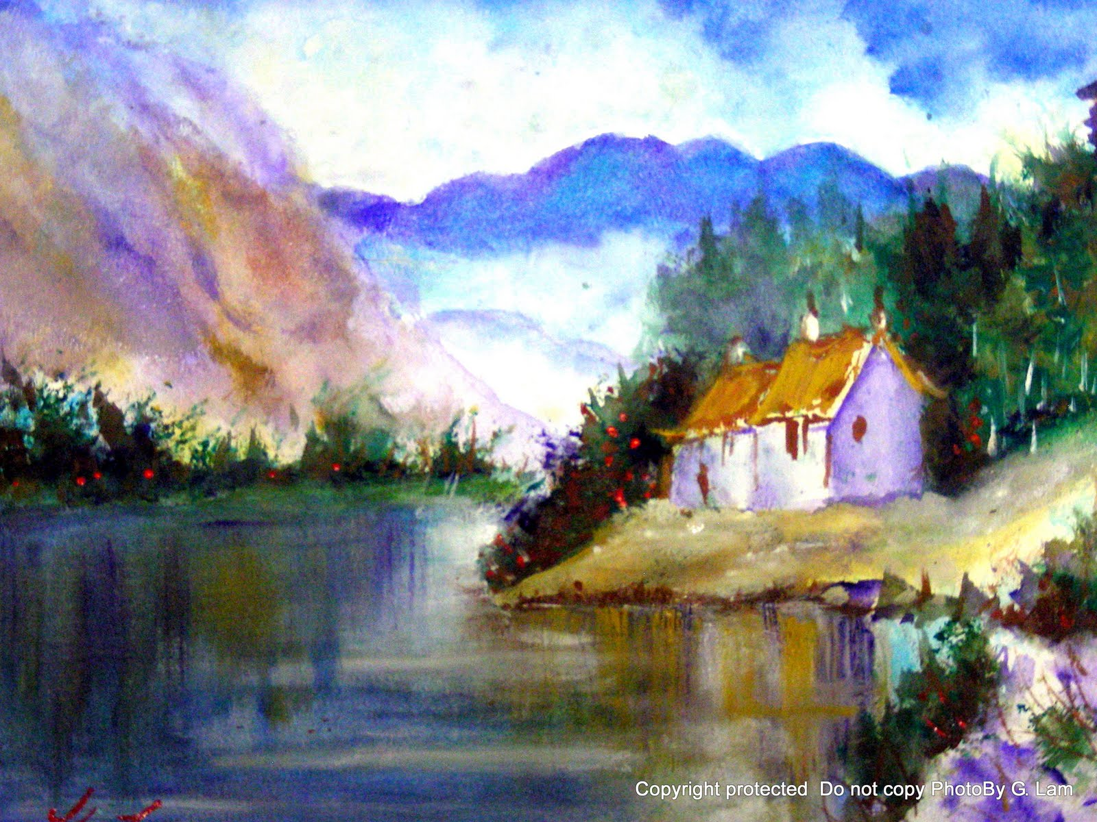 1600x1200 Artscanyon Gallery Two Watercolor Landscape Paintings