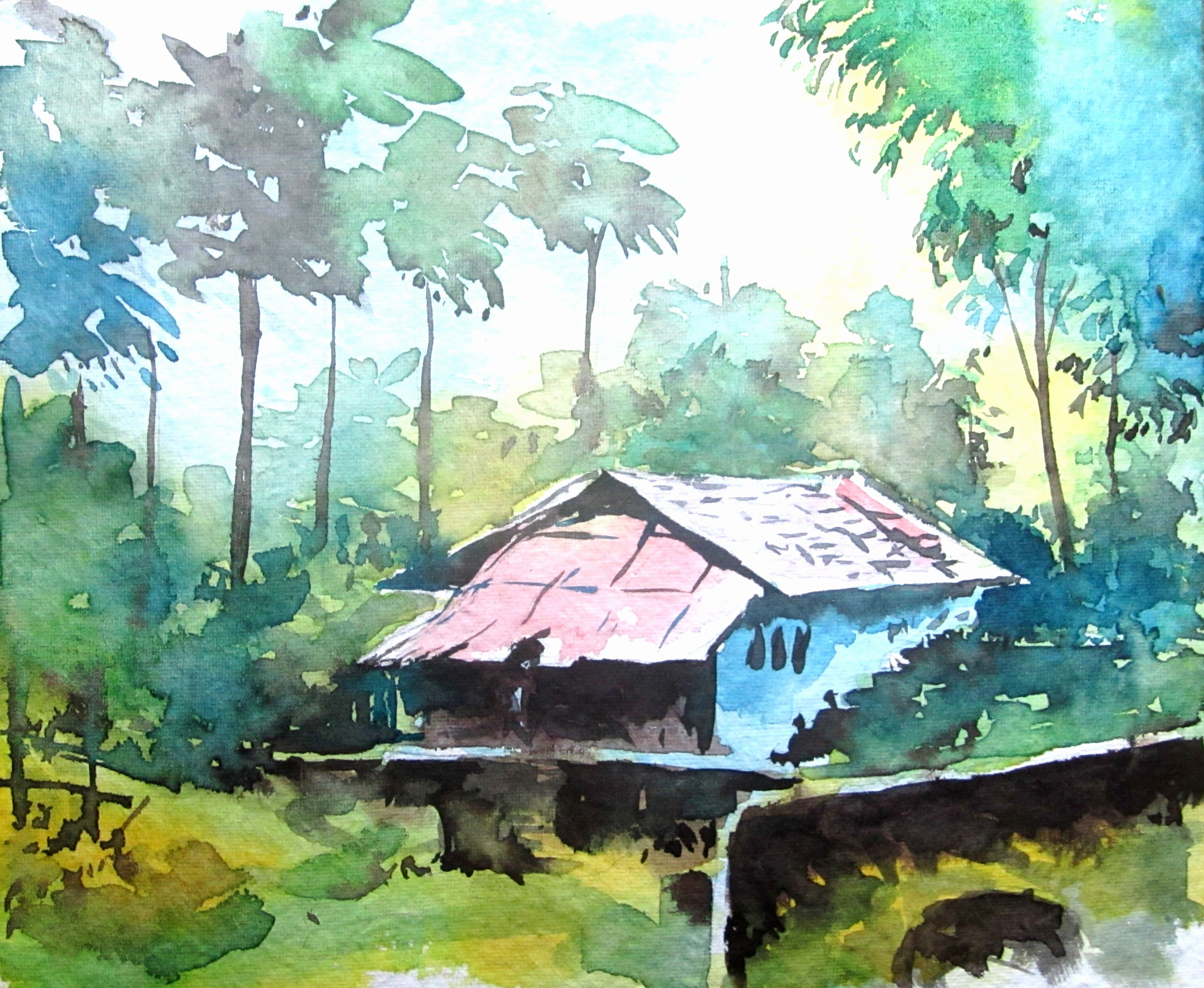 3040x2496 Easy Landscape Watercolor Paintings Gallery Picture 2 Of 50