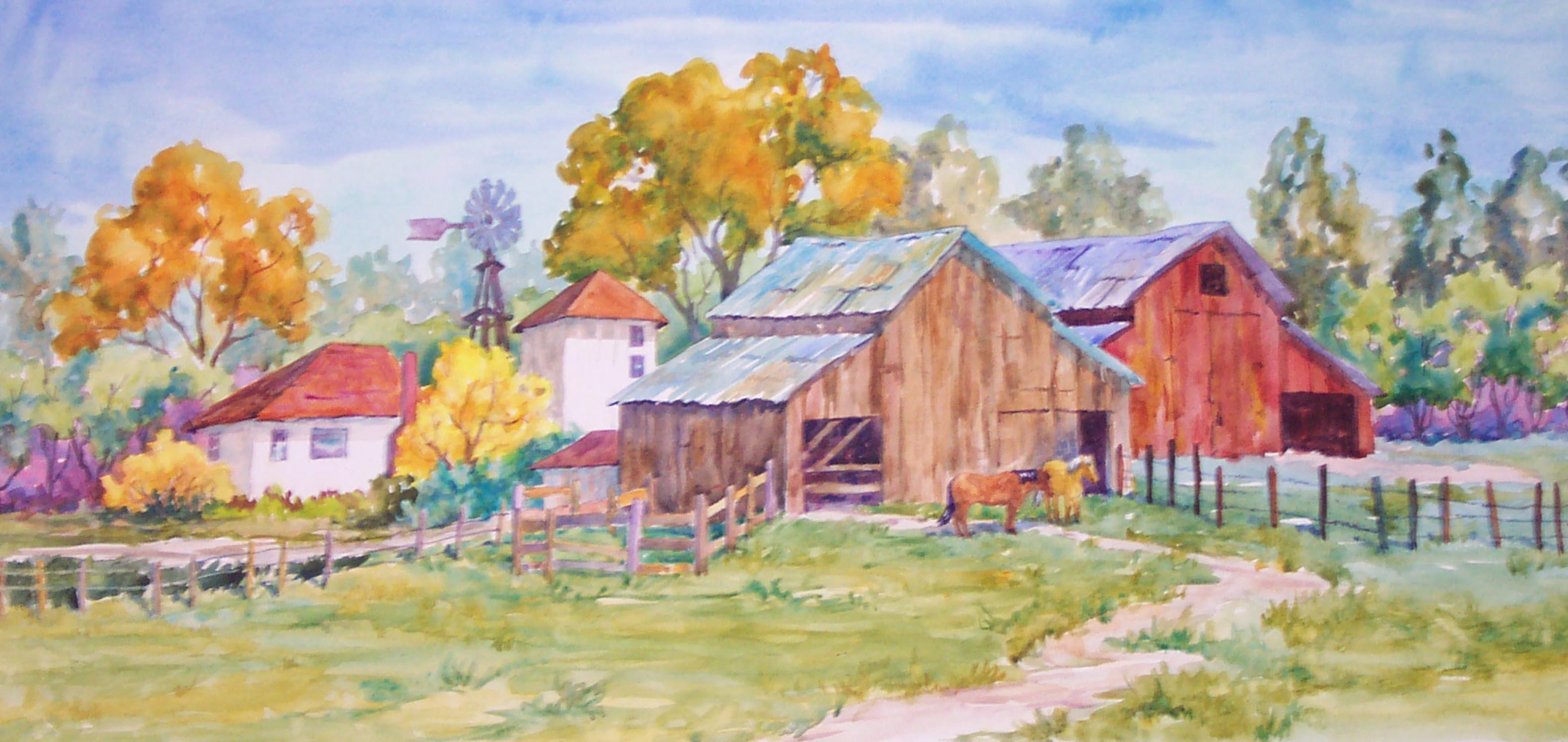 3150x1491 Fineart Gallery,original Art,watercolor Paintings,landscape Art