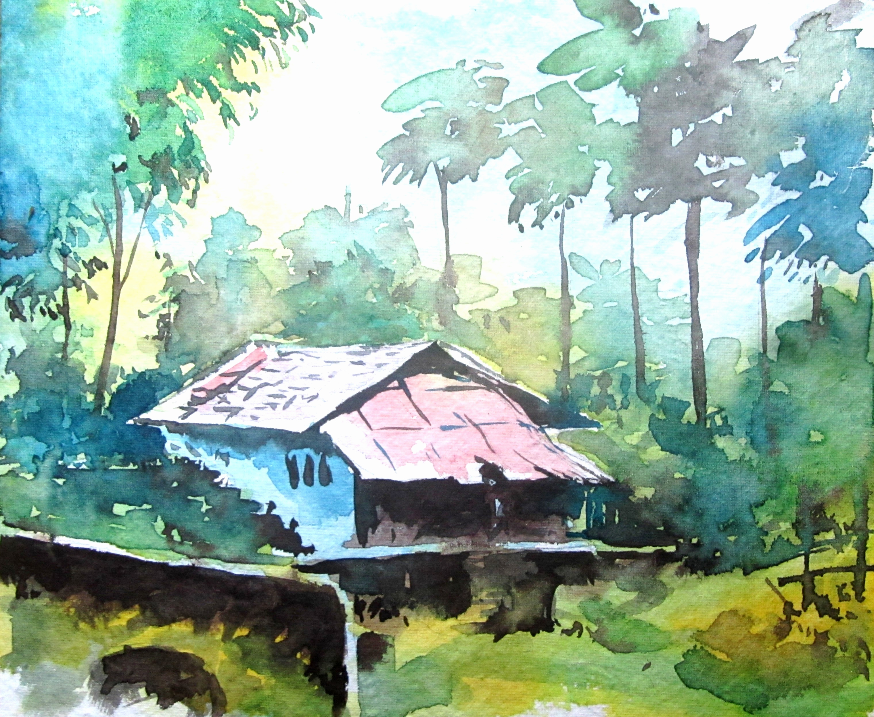 3040x2496 Landscape Watercolor Paintings Gallery