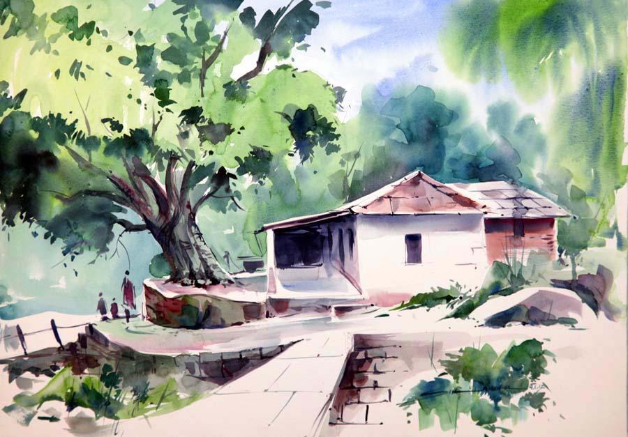 900x627 Landscape Watercolor